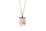 Flower Globe Necklace
