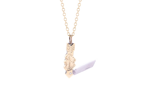 Tiny Love Pocket Knife Necklace