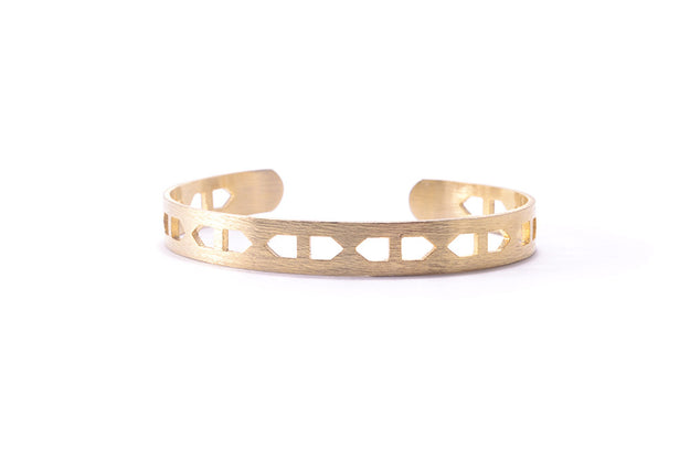 Tribal Bracelet Cuff Gold