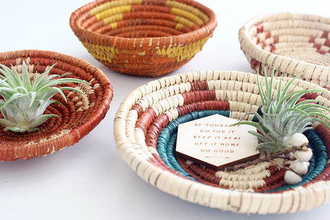 Tiny Woven Basket, Set of 2