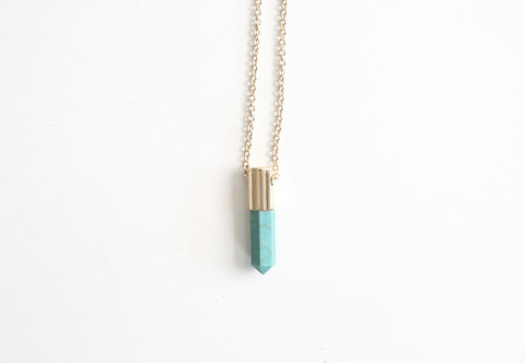 Quartz Necklace Mint