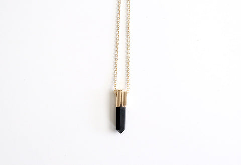Quartz Necklace Black