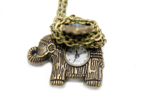 Elephant Watch Necklace