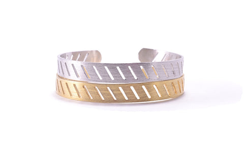 Lines Bracelet - Silver and Gold