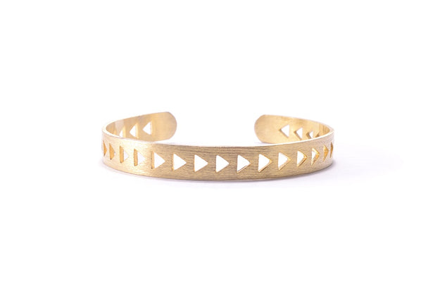 Triangle Bracelet Cuff - Gold