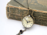 Globe Pocket Watch Necklace