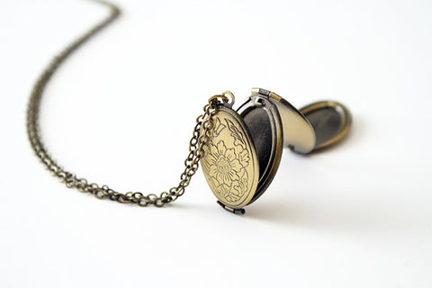 Folding Locket Necklace