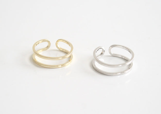 Line Ring Gold and Silver