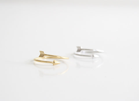 Arrow Ring Gold and Silver