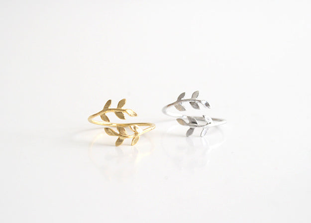 Vine Ring Gold and Silver