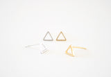 Triangle Earring Studs Gold