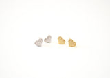 Tiny Heart Earring Studs Gold and Silver