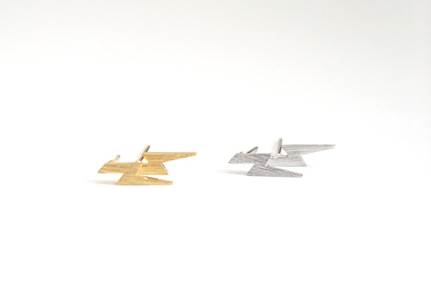 Bolt Earring Studs Gold and Silver