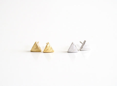 Small Triangle Earring Studs