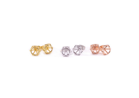 Prism Earring Studs Gold, Silver and Rose Gold