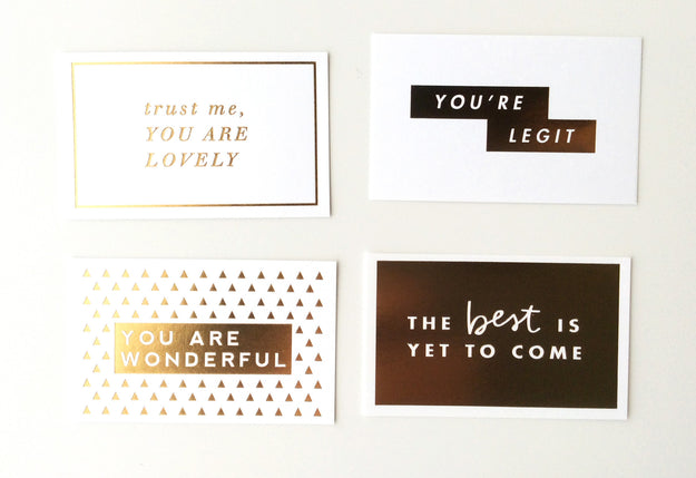 Mini Gold Foil Cards #3, Assorted Pack of 10