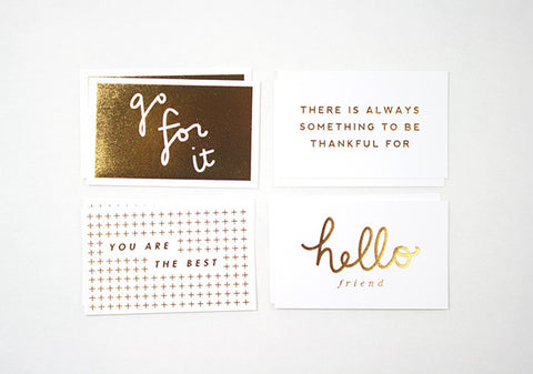 Mini Gold Foil Cards #1, Assorted Pack of 10