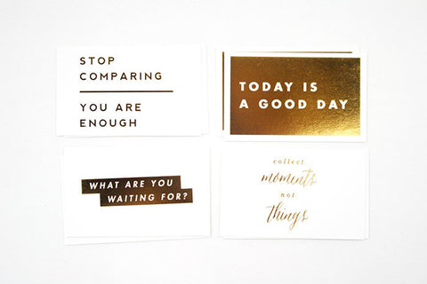 Mini Gold Foil Cards #2, Assorted Pack of 10