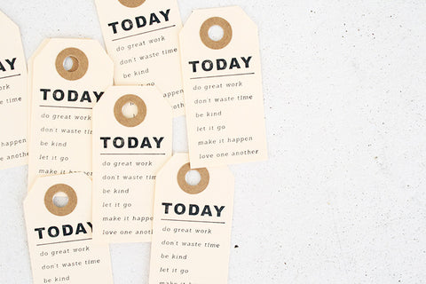 Today Paper Gift Tag Pack