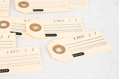 A Note Paper Gift Tag Pack