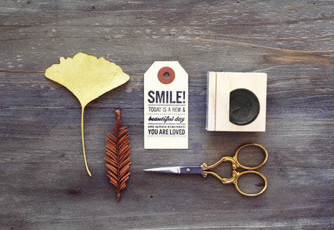 Smile Rubber Stamp