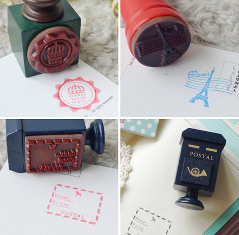 Mail Rubber Stamp Set