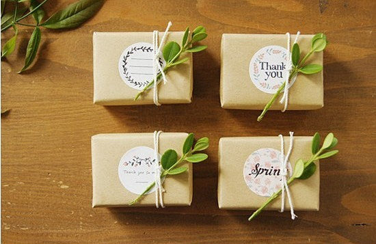 Floral gift label set