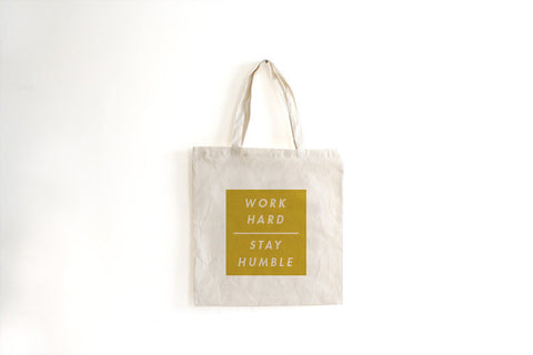 Work Hard Tote Bag