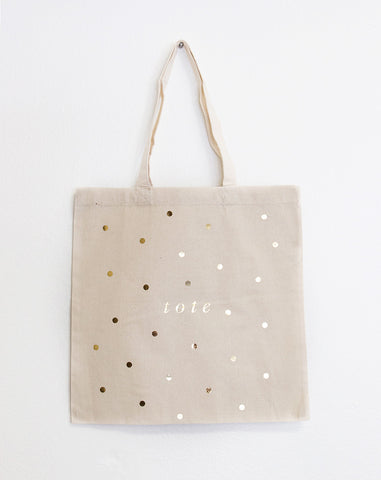 Tote Gold Foil Tote Bag