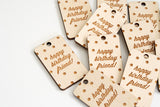 Birthday Confetti Wood Tag