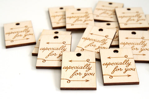 Especially For You Arrow Wood Tag