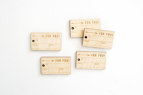 For You Arrow Box Wood Tag