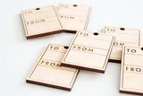 To/From Wood Tag