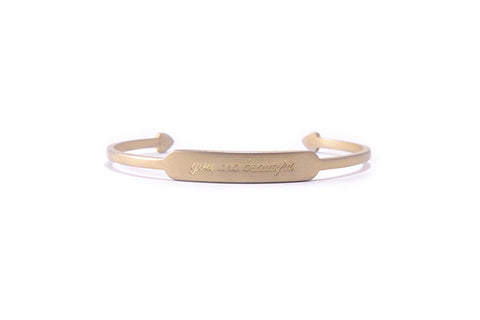 You are Beautiful Bracelet Gold