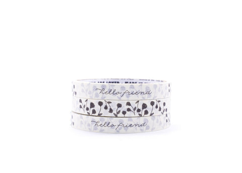 Hello Friend Florals - Message Masking Tape