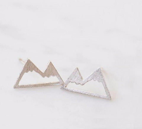 Mountain Earring Studs Silver