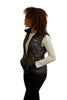 Black quilted puffer vest (womens) - right side