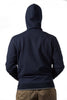 Navy Melange University of Melbourne zip hooded jacket back