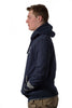 Navy Melange University of Melbourne zip hooded jacket side
