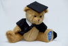 graduation bear sitting down