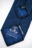 Prussian Blue Silk Tie with Blue Spots - back