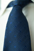 Prussian Blue Silk Tie with Blue Spots