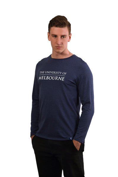 Denim blue long sleeve t shirt