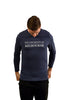 Denim blue long sleeve t shirt - front