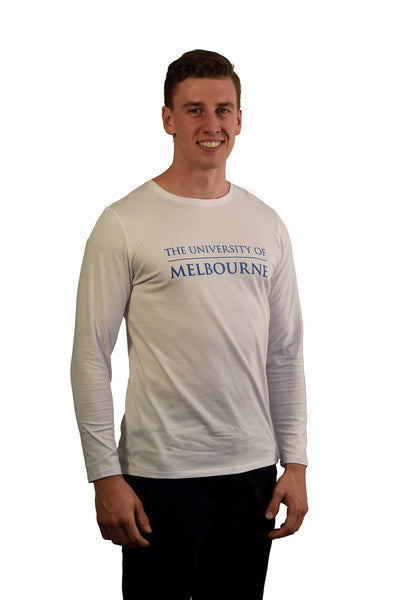 White long sleeve t shirt (mens) - front
