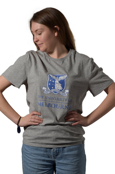 Grey Marle University of Melbourne short sleeve tshirt (Womens) - Front