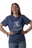 Navy Marle University of Melbourne short sleeve tshirt (Womens) - Front