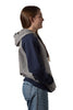 Grey/Navy University of Melbourne hoodie (Womens) - Side