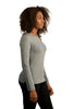 Grey Marle long sleeve t shirt (womens) - side