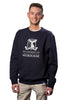 Male Navy Crew Sweater - front